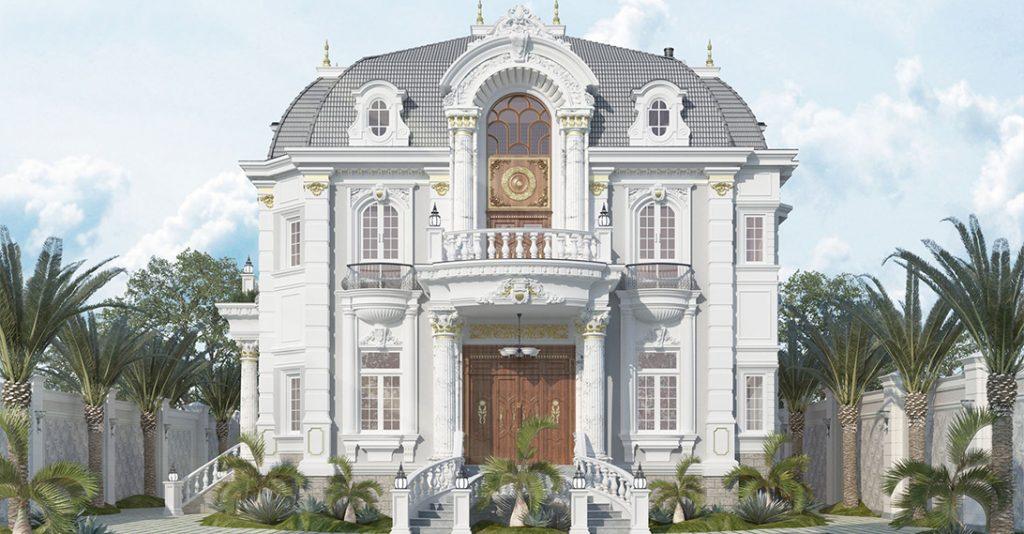 Thiết kế biệt thự tân cổ điển với sân vườn