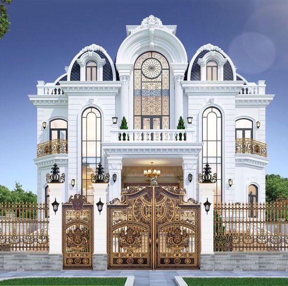Mẫu thiết kế biệt thự kiểu Pháp đẹp