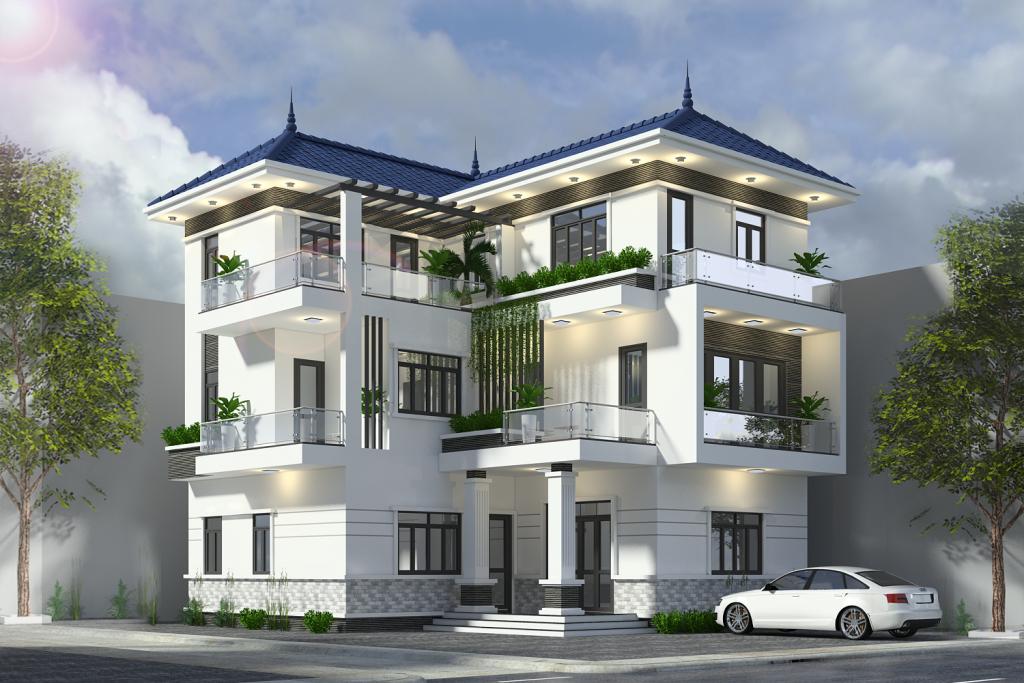Thiết kế biệt thự 3 tầng phù hợp phong thủy
